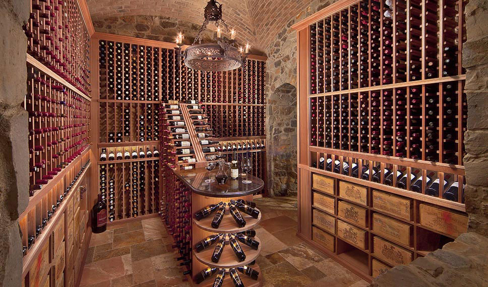 Custom wine cellars made in the usa by - Small space wine racks design ...